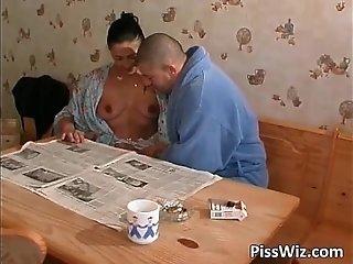 Amateur slut enjoys in doggy fucking