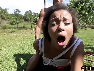 Cfnm ebony teen jizzed