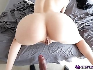 Step bros big cock pound Elsa Jeans hard