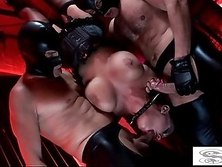 Hot fetish fucking with big-titted cunts Kerry Louise and Elle Brook
