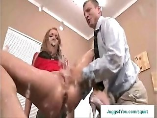 Amy Brooke's Amazing Red Dress squirt scene