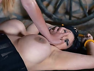 Prisoner Humiliation - Milfs Cram Pussy & Ass With Strap-On