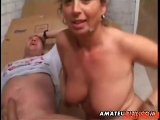 Mature Amateur Wife Homemade Anal with Facial Cumshot pain - abuserporn.com