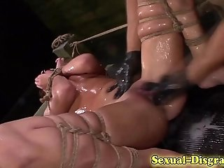 Squirting bdsm sub cummed