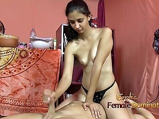 Shy Brown Girl Giving A Handjob While Facesitting